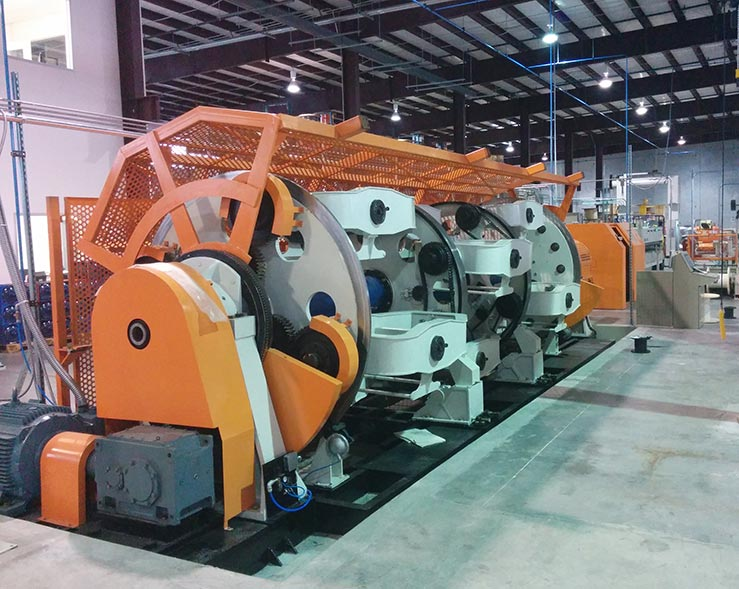 umbilicals International New 12 position high capacity planetary cabling line